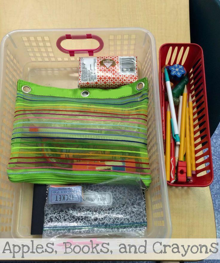 Classroom Desk Organization Ideas Pinterest: 1000+ Images About Desk/school Tips & Organization On