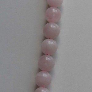 Cuarzo rosa, Bola 12mm, tira de 40 cm.  (PVP 7,76 € + IVA)