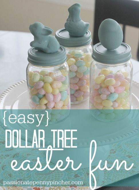 Here's an easy Dollar Tree Easter craft to brighten your Easter table or just to make for fun!