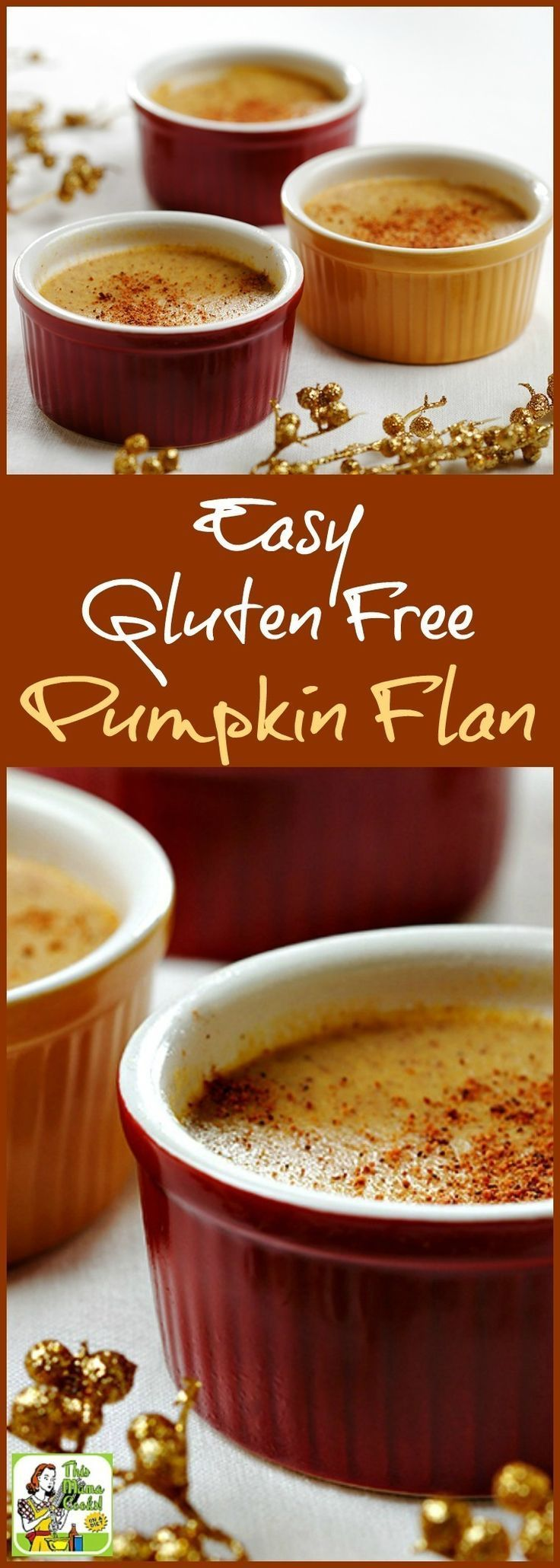 This Easy Gluten Free Pumpkin Flan can be made dairy free. Click to try this easy pumpkin dessert recipe for Thanksgiving.
