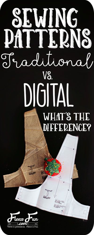Traditional sewing patterns vs. digital sewing patterns. I love how this article clearly points out the differences between the two. Great information about sewing.