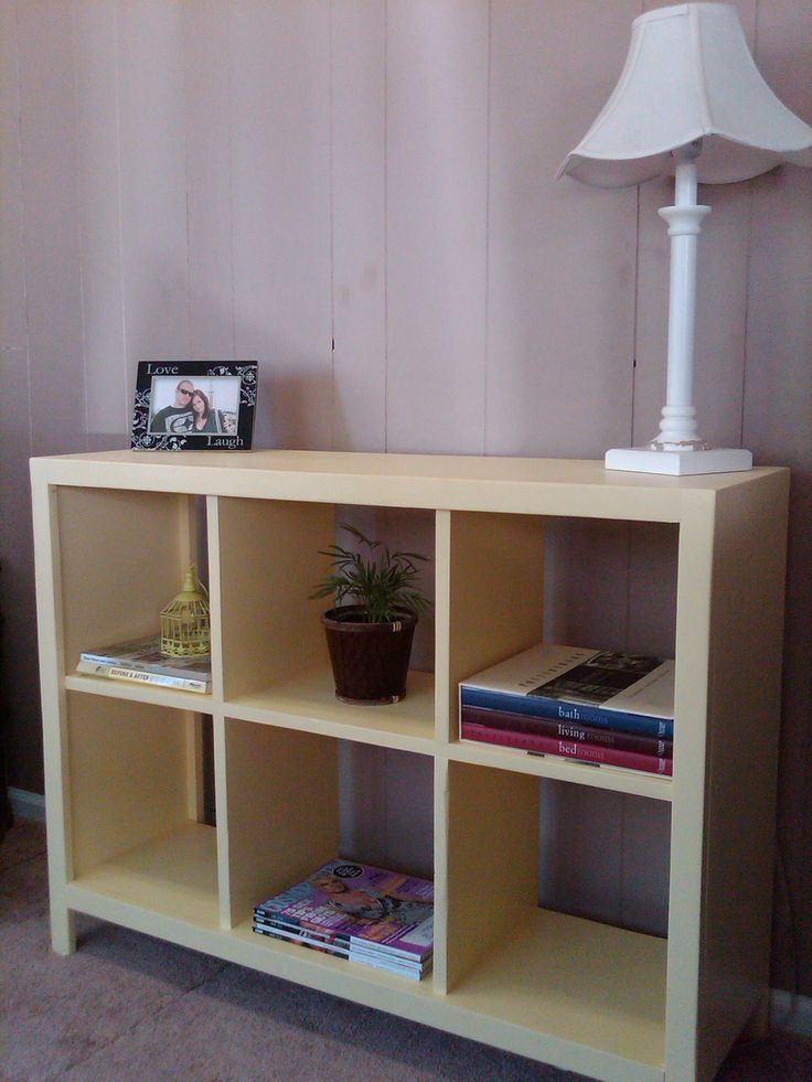 205 best ana white diy images on pinterest woodworking my new yellow cubby shelf do it yourself home projects from ana white solutioingenieria Images