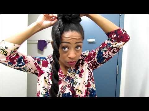 Natural Hair | Faux Bun and Bangs Updo