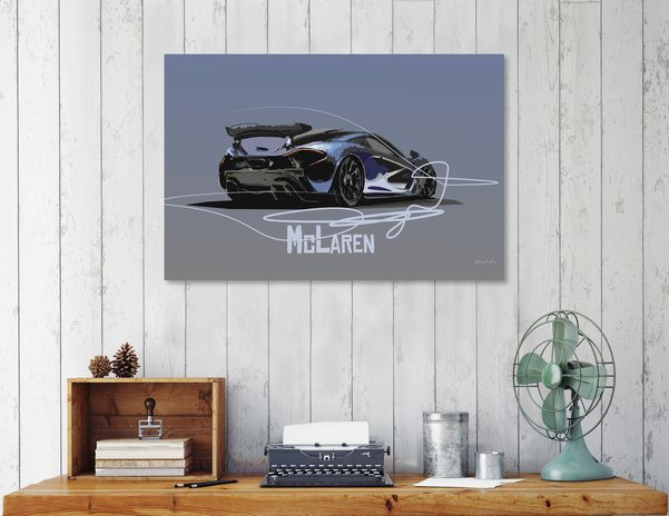 Discover «McLaren Sports Car», Numbered Edition Canvas Print by zelko radic - From $49 - Curioos