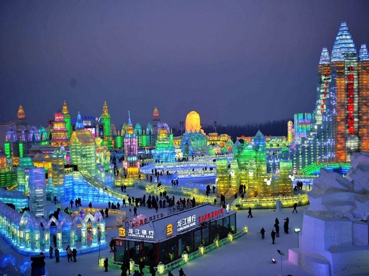 China's Harbin International Ice Festival