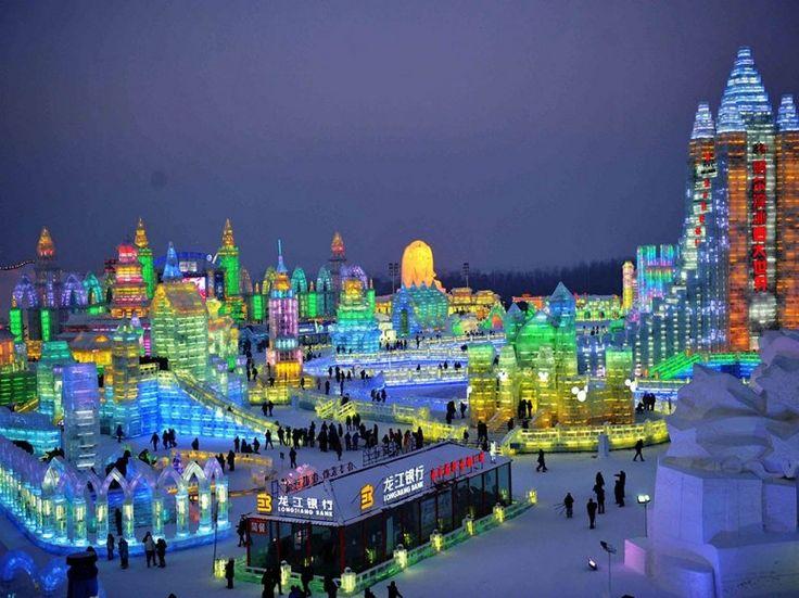 China's Harbin International Ice Festival