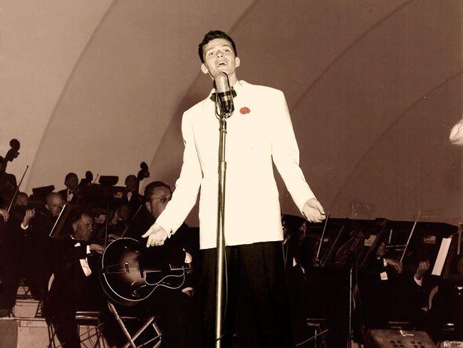 Frank Sinatra at Hollywood Bowl.