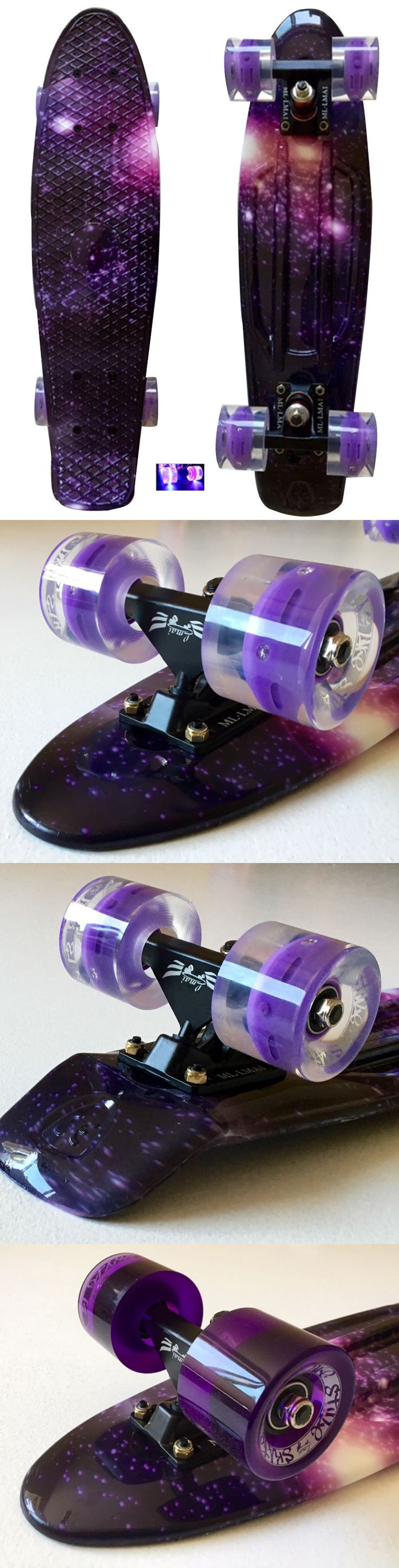 Skateboards-Complete 16264: Lmai 22 27 Cruiser Skateboard Graphic Penny Style Galaxy Purple Starry Board -> BUY IT NOW ONLY: $59.99 on eBay!