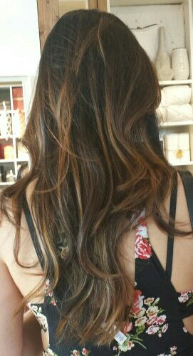 Brown ombre for Asian hair w subtle ash blonde