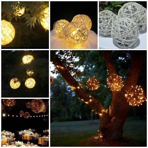 These decorative yarn balls are perfect for centerpieces and great for outdoor decor all year round !  Directions--> http://wonderfuldiy.com/wonderful-diy-lighted-yarn-ball-decoration/