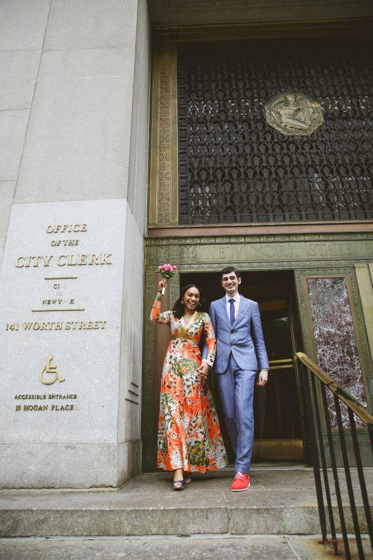 wedding ceremony new york city%0A A LaidBack  New York City Hall Elopement