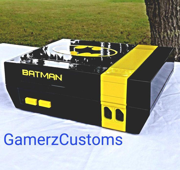 from $250 - Batman Custom #Nintendo Nes #Console Blue Power Led Awesome!!