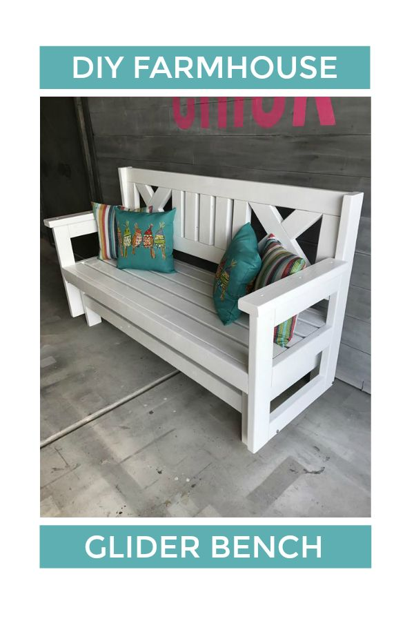 How to Build a DIY Farmhouse Outdoor Glider Bench