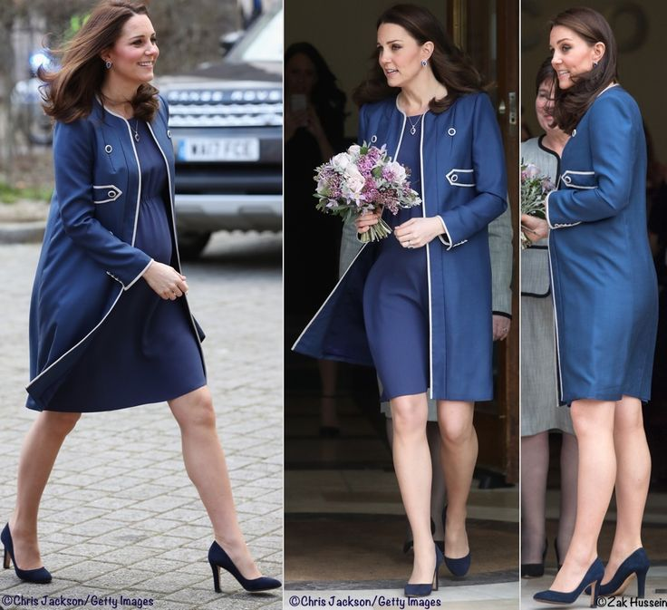 Kate in Vibrant Blue for Hospital Engagements & New Patronage Announcements - What Kate Wore