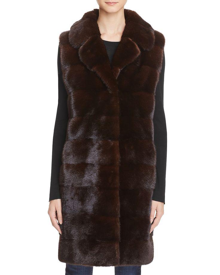 Maximilian Furs Mink Fur Long Vest - Bloomingdale's Exclusive