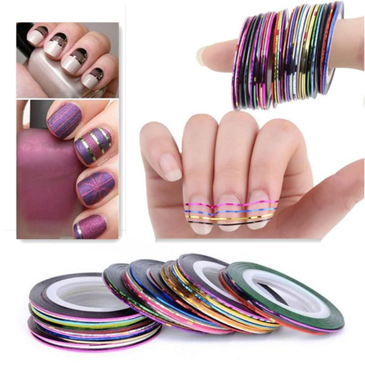 10 Color Striping Tape Line Nail Art Decoration Sticker - US$1.17 sold out
