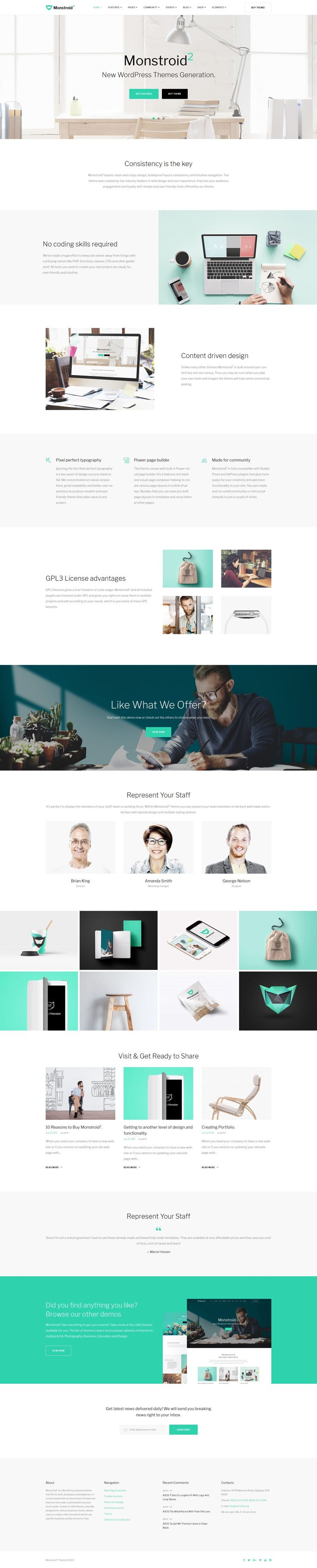 Monstroid2 - Multipurpose WordPress Theme Big Screenshot