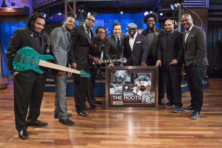 Jimmy Fallon And The Roots | GRAMMY.com: Fallon Fanfare, Roots Crew, Dinners, Watches Jimmyfallon, Jimmy Fallon And The Roots, Multistori Murals, Roots Celebrity, Photo, Massiv Murals