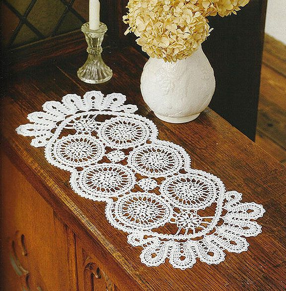 Long rectangular shaped free crochet doily pattern with ...