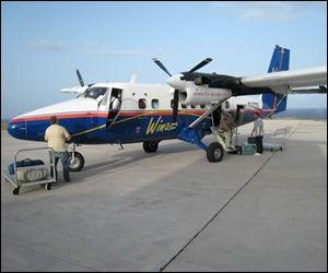WinAir Flight In St. Kitts - #Nevis. The St. Kitts' Airport.