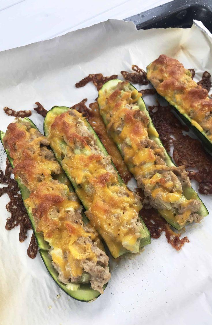 How to make Keto Tuna Melt on Zucchini This easy Keto