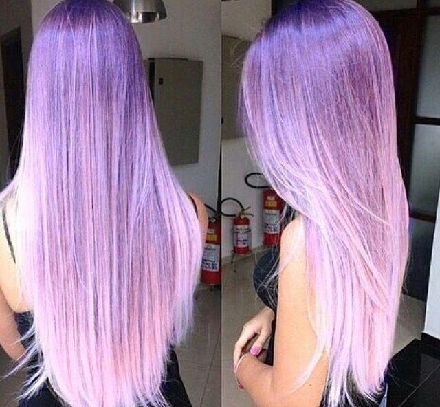 Purple Violet pinkish ombre hair color