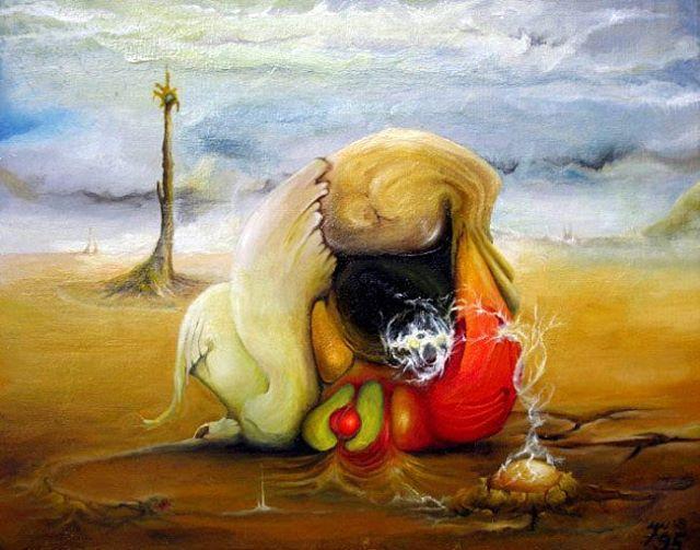 #Ölgemälde Am Anfang war die Erde wüst und. ....die Entstehungsgeschichte unserer Welt  #artist #kunstwerk #art #painting #malerei #Künstler #oiloncanvas #surreal #painter #Anfang #picture  www.ralf - czekalla - art.com