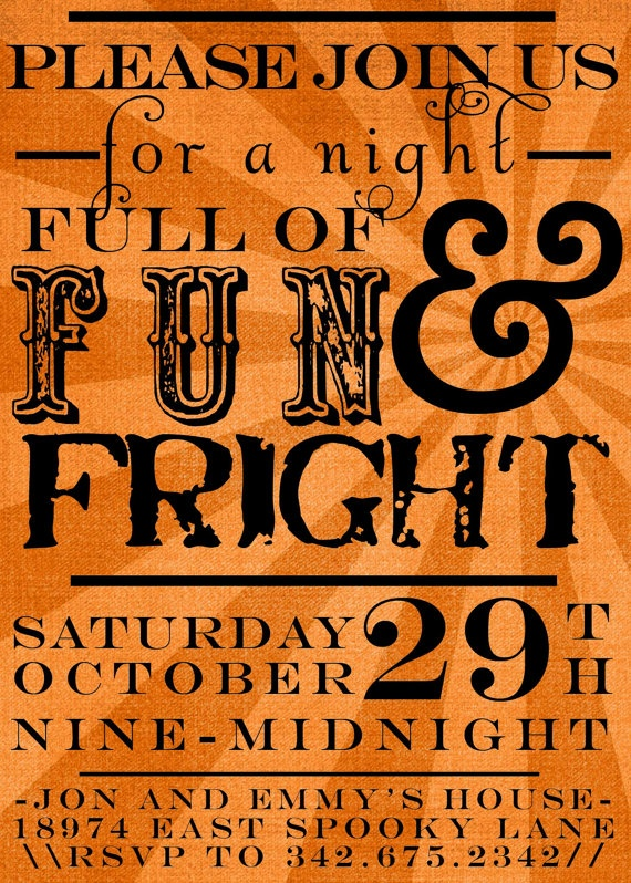 halloween party announcement posters