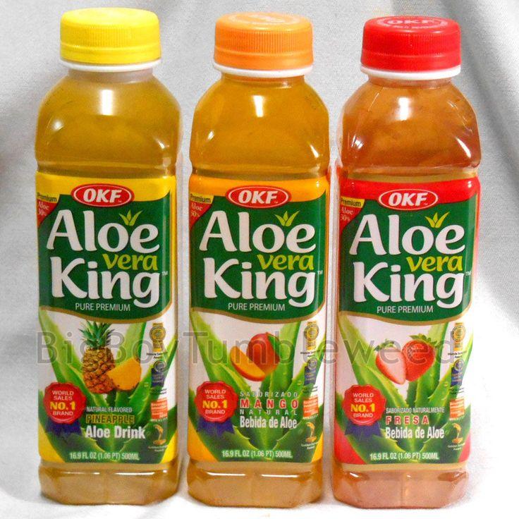 3 pc OKF Aloe Vera King 30% Aloe Strawberry Mango Pineapple juice drink 16.9 oz #OKF #BigBoyTumbleweed