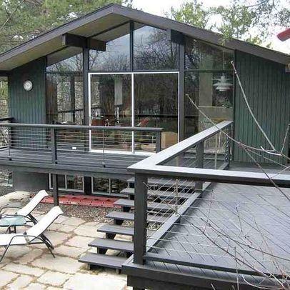 Deck Idea Porch Railing | Deck Cable Railing Design Ideas, Pictures, Remodel, and Decor
