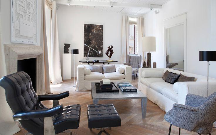 Stefano dorata architetto appartamento piazza di spagna - Architetto interior designer ...