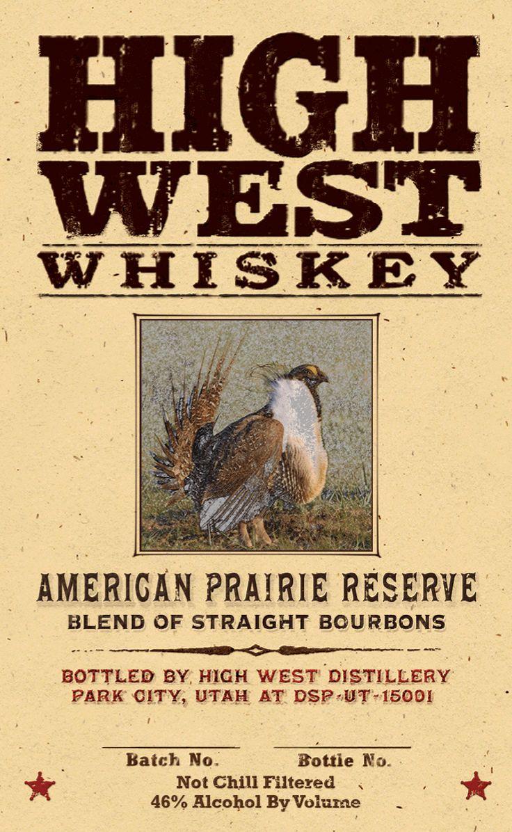 New High West Whiskey - American Prairie Reserve Bourbon