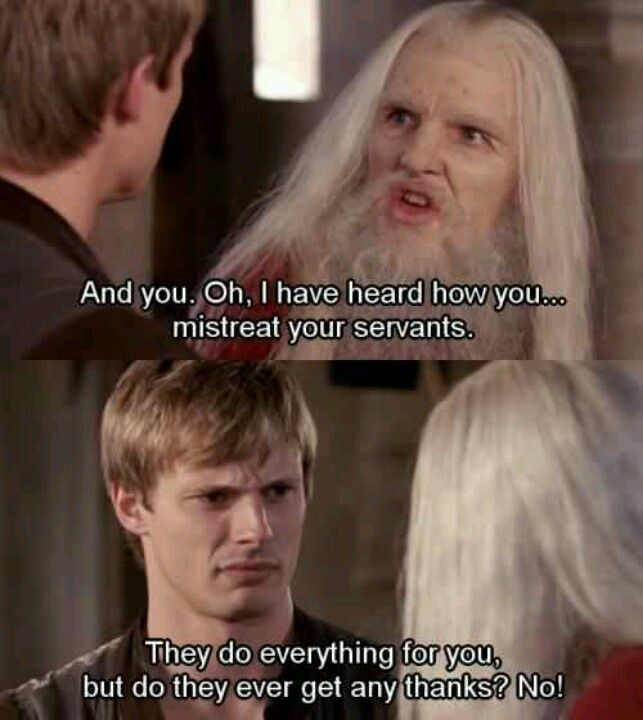 Merlin as Dragoon.  So funny. lol how did this not expose Merlin at least to Arthur.... Arthur's face...