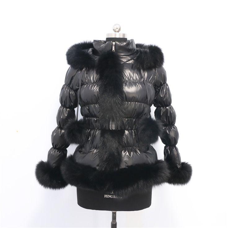 Fashion  new style winter child down coat with fox fur trim/ popular puffer