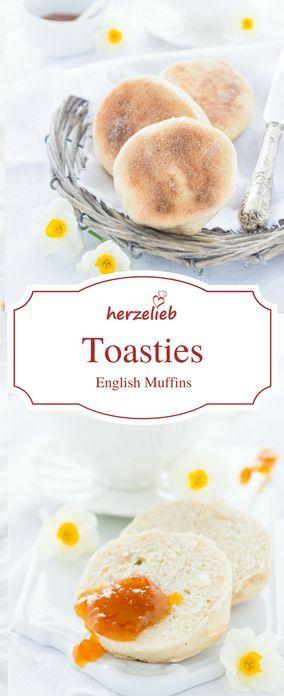 Brot Rezepte : Leicht zu backende Toasties oder English Muffins. Lassen sich super einfrieren und autoasten.