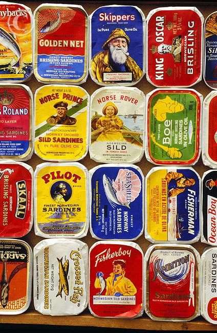 Norwegian sardine tins