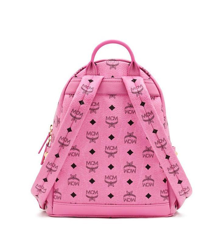 MCM STARK BACKPACK PINK - MCM-3 #mcm #backpack #pink #bag