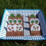 Free printable paper garden project for kids.  Peter Rabbit.