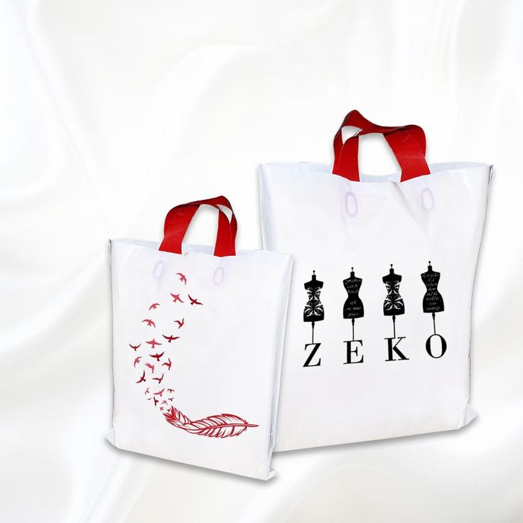Screen Printed White Carry Bags Online.