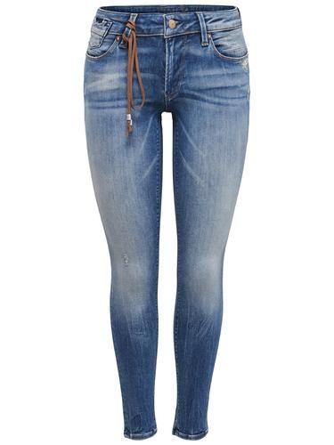 #ONLY #Damen #Skinny #Fit #Jeans #Carrie #Low #blau - Skinny-Jeans mit Low waist - Mit Reißverschluss und Knopf vorn verschließbar - 2 Taschen an der Front und eine Münztasche - 2 Gesäßtaschen - 5 Gürtelschlaufen - Dehnbares Material - Schrittnaht: 84 cm in Größe 29/34 - Das Model ist 174 cm groß und trägt Größe 28/32