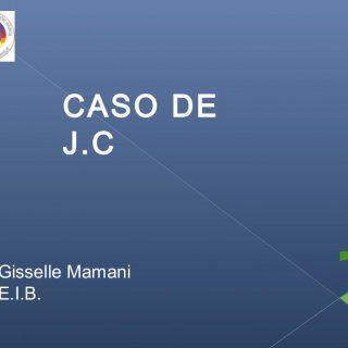 Gisselle Mamani E.I.B. CASO DE J.C    Edad: 8 años.  Repitió en segundo Básico, el año pasado.  ANTECEDENTES FAMILIARES:  Vive con su hermano mayor, s. http://slidehot.com/resources/caso-de-j-c.21117/