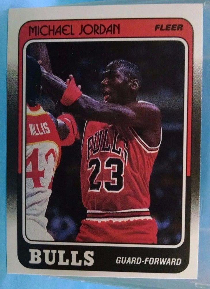 1988-89 Fleer #17 Michael Jordan Team: Chicago Bulls #ChicagoBulls