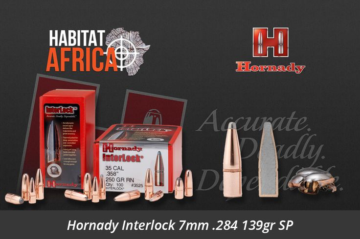 The Hornady Interlock 7mm .284 139gr SP stems from Hornady's traditional line of bullets which feature exposed lead tips for controlled expansion and hard hitting terminal performance. Most have our pioneering Secant Ogive design-one of the most ballistically efficient profiles ever developed. Most feature our exclusive InterLock design – a [...]