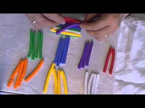 tutorial murrina wiphala y broche - YouTube