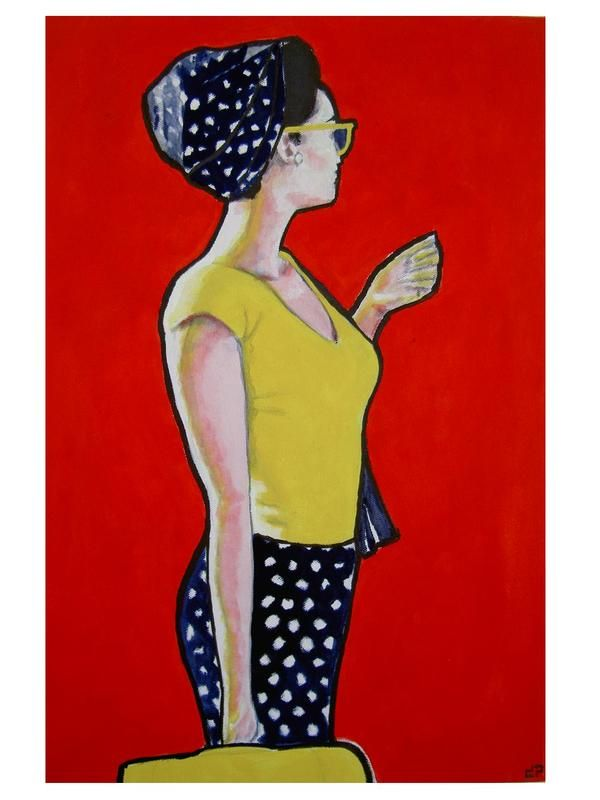 lady by diogenis papadopoulos, via Behance