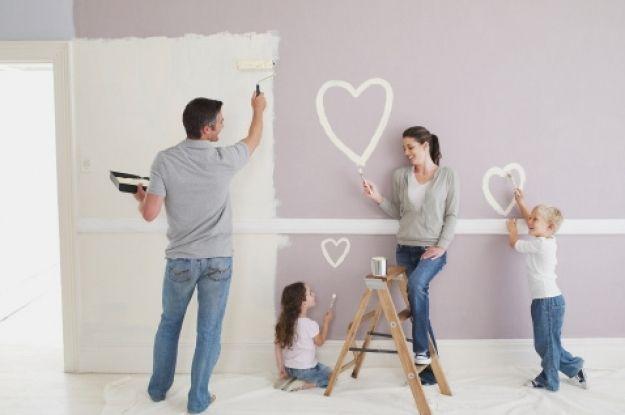 C mo pintar paredes nuevas hazlo tu mismo pinterest for Como pintar puertas placas nuevas
