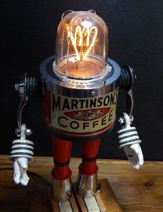 Greetings~ Retro Science Fiction Coffee Lovers! Bright ideas start with Coffee and Robots! This is Martinson. A very unique, one of a kind lighted,