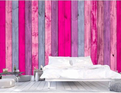 """Wall of Pink Wood Planks"". A wall mural from Muralunique.com. https://www.muralunique.com/wall-of-pink-wood-planks-12-x-8-3-66m-x-2-44m.html"