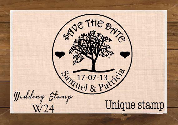 Monogramma, Custom timbro di nozze. Salva la data, albero, RSVP, amore è dolce, regalo per coppia, Housewarming dono montato timbro W24 on Etsy, 6,00€