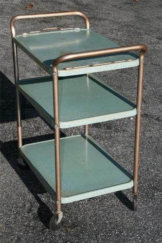 Beautiful Vintage Metal Bar Cart